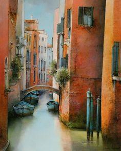 Marc Chapaud 1941 | French landscape painter | Tutt'Art@ Paris Painting, Watercolor Pictures, Architectural Section, Bruges, Paris Street, Art History, Venice, Illustration, Rome