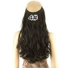 $7.26 Fashion Long Fluffy Wavy High Temperature Fiber Hair Extension For Women