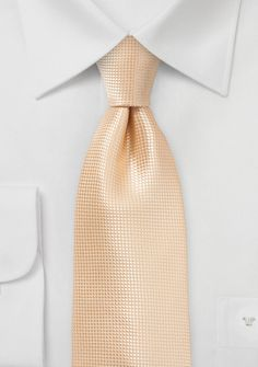 Solid Color XL Length Tie in Peach Fuzz, $9.95 - perfect for large and tall gents. | Cheap-Neckties.com