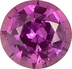 Genuine Purple Sapphire Loose Gemstone, Purple Violet Color, Round Cut, 8.2 x 8.0 mm, 2.39 Carats at BitCoin Gems