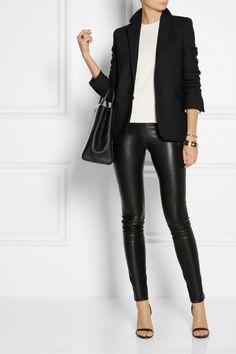 The Row | Moto stretch-leather skinny pants | NET-A-PORTER.COM