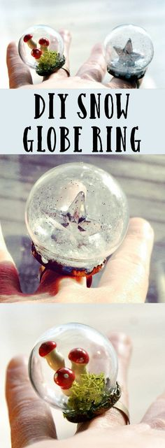 DIY snow globe ring