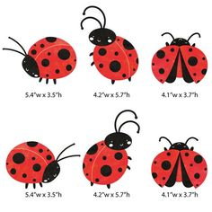 SALE TODAY Ladybug Decals Set of 6 Ladybug Wall Stickers for Kids and Baby Room Decor (SKU is part of Sale Today Ladybug Decals Set Of Ladybug Wall Stickers - MyWallStickersStephanie & MichaelMy Wonderful WallsMyWallStickers on Etsy Lady Bug Tattoo, Ladybird Drawing, Lady Bug Drawing, Ladybird Tattoo, Mothers Day Crafts For Kids, Hamsa Tattoo, Baby Room Decor, Rock Art, Painted Rocks