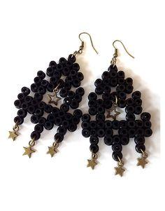 Earrings hama perler beads - Babioles & Aneries