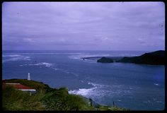 South Head of Manukau Harbour. View of Whatipu. c.1970s. Sir George Grey Special Collections, Auckland Libraries, 1055-334