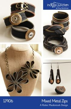 zipper jewelry- Sam! Make these!
