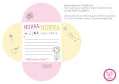 Zur Einschulungsbox gibt es noch eine passende Grußkarte für das Einschulungskind <3 mit viel Liebe #naehfein #einschulung #einschulungsbox #geschenk #schule #grusskarte #notizblock