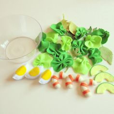 Pretend Felt food How to make Avocado shrimp by TomomoHandmade
