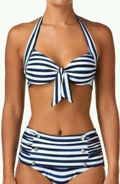 Seafolly Womens Seaview Tie Front Halter Bikini Top find more women fashion idea. Sexy Bikini, Bandeau Bikini, Tankini, High Waisted Bikini Bottoms, Bikini Tops, Halterneck Bikini, Sexy Women, Bikinis, Summer Swimwear