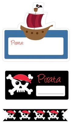 La Super Mamy: agosto 2013 Deco Pirate, Pirate Day, Pirate Birthday, Pirate Theme, Boy Birthday Parties, Baby Shower Parties, Pirate Crafts, Diy Birthday Decorations, Under The Sea Party