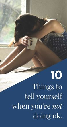 10 things to tell yourself when you're not ok   Positive reminders for when you're feeling down and dealing with depression or mental health issues like anxiety or bipolar. Positive affirmations when you're depressed or have low moods and daily reminders Mental Health Issues, Mental Health Awareness, Wellness Tips, Health And Wellness, When Youre Feeling Down, Low Mood, Go For It, Self Improvement Tips, Self Care Routine