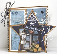 Voorbeeld sept. 2018 nr.1: Studio Light, Winter trails,STENCILSL98 Marianne Design, Studio Lighting, Joy To The World, Penny Black, Masculine Cards, Baby Cards, Cardmaking, Birthday Cards, Box