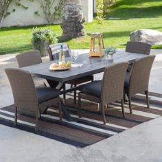 Belham Living Ashera All Weather Wicker Patio Dining Set | from hayneedle.com