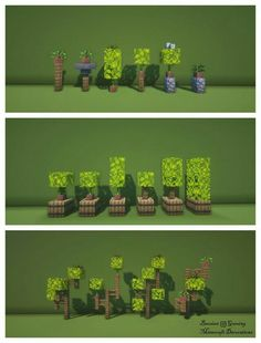 minecraft building ideas Interior Plants Variety Default Texture Pack with BSL+ Shaders) - DetailCraft Minecraft Bauwerke, Minecraft Garden, Images Minecraft, Minecraft Cottage, Easy Minecraft Houses, Minecraft House Designs, Minecraft Decorations, Minecraft Construction, Minecraft Tutorial