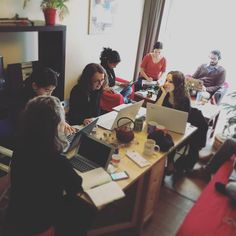 #coworking at #home is perfect to #network ! #futureofwork #homeoffice #FrenchTech