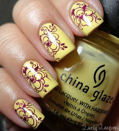 so cute!  love the pastels. nail stamping