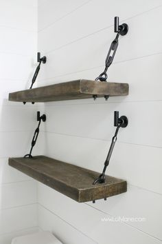 I finished renovating our hall bathroomlast month and have been looking for the perfect shelves for storage above the toilet. I've been on the hunt for a good hanging shelves diyproject and saw the prettiest turnbuckle wall shelf. It was linked to this darling turnbuckle shelf kit but because they're so darling, they have a …
