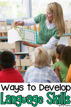 Learning how to read is an important milestone in children's lives. We want to start teaching our kids how to read right away, but there are things that we need to do before to help them become successful readers. Before children can learn how to read, they need to build the foundation and develop pre-reading skills including Language Skills. Click on the picture for ways to develop your children's language skills! #languageskills #prereadingskills #prereaders #preschool #preschoolers