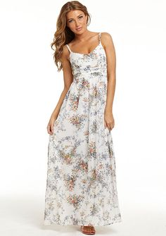 Ava Floral Maxi Dress at Alloy. perfect for summer Floral Maxi Dress, Dress Up, Maxi Dresses, Pretty Outfits, Cute Outfits, Fashion Corner, Mori Girl, College Fashion, Comfortable Outfits