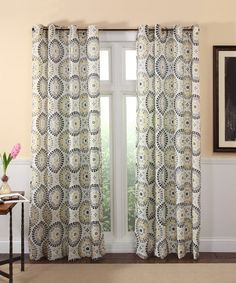 Look at this Charcoal Melina Curtain Panel on #zulily today!