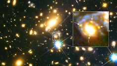 Just as Albert Einstein predicted, astronomers have found a massive galaxy bending and magnifying light from a supernova to create four separate images.