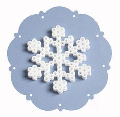 Melted Bead Snowflakes