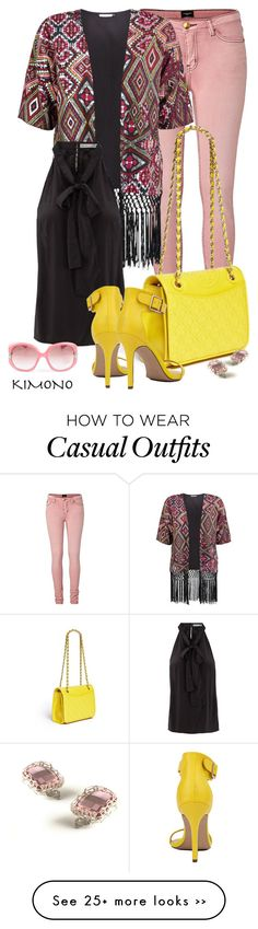 """""""Casual outfit: Yellow - Rose"""" by downtownblues on Polyvore"""