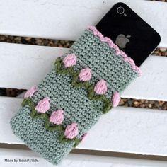 crochet phone cases diy c Love Crochet, Crochet Gifts, Beautiful Crochet, Diy Crochet, Crochet Game, Bobble Stitch, Chain Stitch, Crochet Phone Cover, Crochet Mobile
