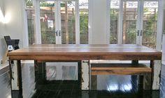 Mesa de madeira reciclado de estilo industrial, Recycled Lane, Melbourne