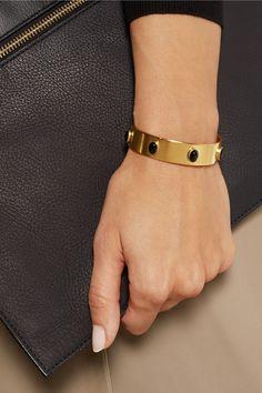 FindsEla Stone Talla gold-plated agate cuff
