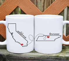 Love this mug set for a long distance love or a mom who's far away.