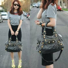 Nice! Style Equation: T-Shirt + Pencil Skirt