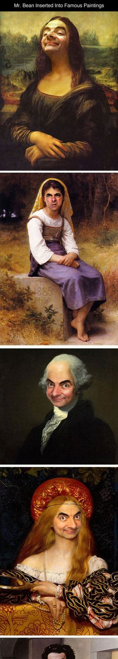 Mr beans bad day teaching pinterest mr bean teaching photoshopping mr bean into famous paintings solutioingenieria Image collections