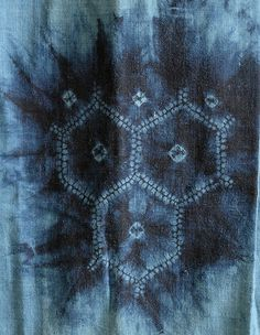Detail: A Northern Japanese Indigo Dyed Shibori Juban