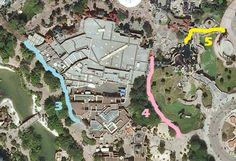 Shortcuts There are several paths and walkways which are hardly ever used by guests because they don't appear on the overly simplified park maps, or they're not easily seen. Some of them are covered...