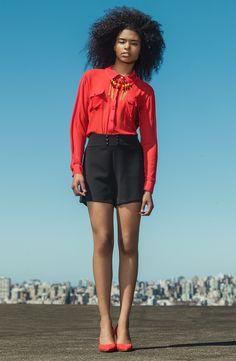 #gverri #gverristore #verão14 #moda #fashion #camisa #short #preto #vermelho
