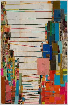 Lance Letscher: Double Mind, 2008, Collage on masonite, 31.0 x 20.0 more work of the artist here http://www.dbermangallery.com/artist-portfolios/letscher-0504/ProvisionalBeautyNewWorkby/01-96_JPG.html