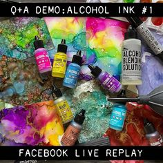 Alcohol Ink Crafts, Alcohol Ink Painting, Alcohol Ink Art, Alcohol Markers, Tim Holtz Blog, Ink In Water, Anna Griffin Cards, Ranger Ink, Copics