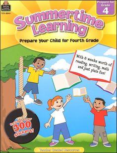 Summertime Learning - Prepare for Grade 4 | Main photo (Cover)