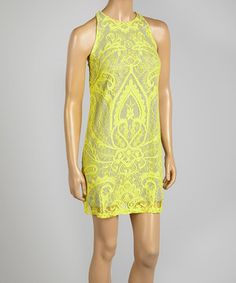 This Maize Lace Sleeveless Shift Dress by Nicole Miller is perfect! #zulilyfinds