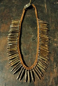 Old Amulet necklace from Tharu people | Nepal