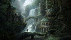 Concept Art Elven City 3