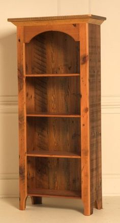 barn wood bookcase pic only