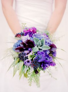 Regal Purple: http://www.stylemepretty.com/2015/07/16/30-bright-beautiful-bouquets-for-the-bold-bride/