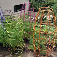 The Toki bubble trellis allows vines to be planted anywhere in the garden and is perfect for tomato plants Garden Log Cabins, Tomato Cages, Classic Garden, Garden Projects, Garden Ideas, Garden Trellis, Grow Your Own Food, Modern Landscaping, Garden Structures