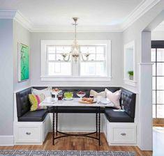 Wall paint color is Benjamin Moore Harbor Gray.  Martha O'Hara designs.