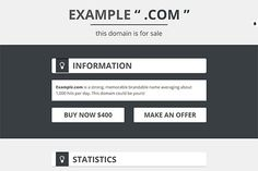 DomainFS - Domain For Sale Template. Bootstrap Themes. $2.00