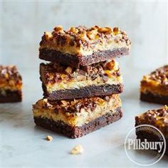 Chocolate Toffee Brownie Bars from Pillsbury® Baking are a chocolate lover's dream come true!