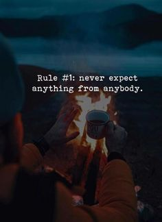 Positive Quotes : QUOTATION – Image : Quotes Of the day – Description Rule never expect anything from anybody. Sharing is Power – Don't forget to share this quote ! Strong Quotes, Real Quotes, Positive Quotes, Positive Vibes, Quotes Deep Feelings, Attitude Quotes, Wisdom Quotes, Words Quotes, Sayings