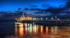 After we finished shooting down on the beach, we moved the photowalking party up to the pier.  There was just an edge of light left when I took this photo.  - LA, California  - Photo from #treyratcliff Trey Ratcliff at http://www.StuckInCustoms.com
